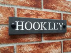 Slate house name sign / address plaque – 250 x 60; 9.8 inches x 2.4 inches
